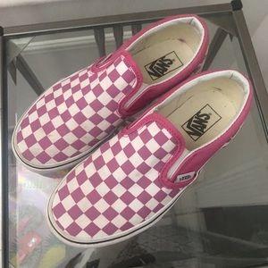 Vans Pink checkerboard size 2